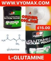 Vyomax L-glutamine muscle recovery powder 300g | Vyomax Nutrition